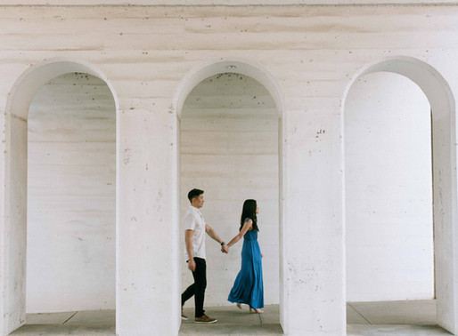 Julie and Cliff- a downtown Dallas engagement session