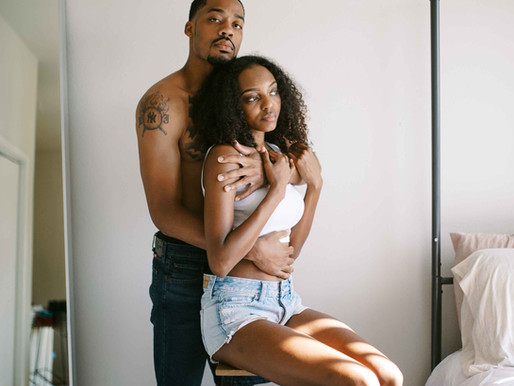 Kamry and Ulric- an intimate at-home lifestyle session