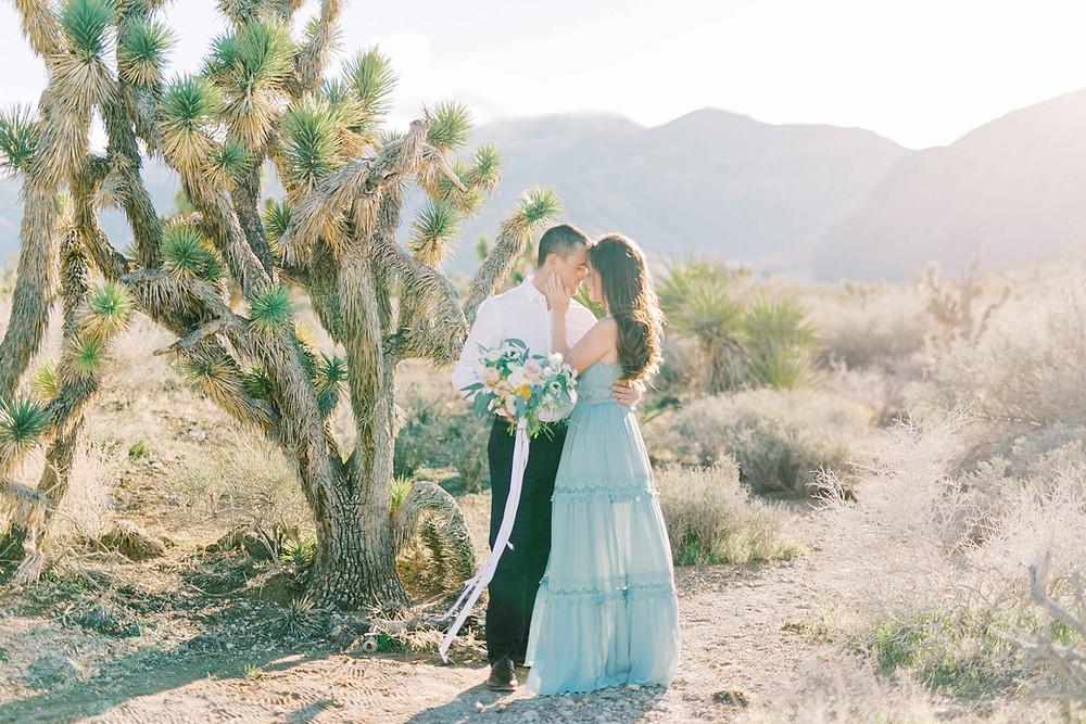 Fine Art Film Las Vegas Engagement Shoot Joshua Tree Engagement Session Katie Chang Photography