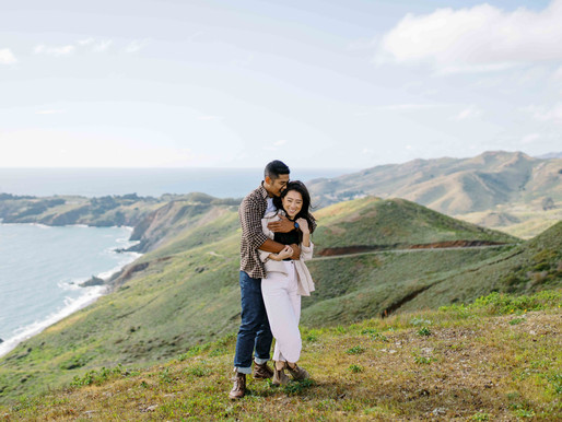 An Adventurous Engagement Session Atop The Marin Headlands