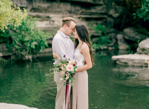 Austin Wedding Photographer- Bull Creek Fine Art Engagement Session