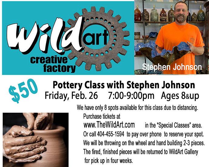 Pottery Class Friday, Feb. 26