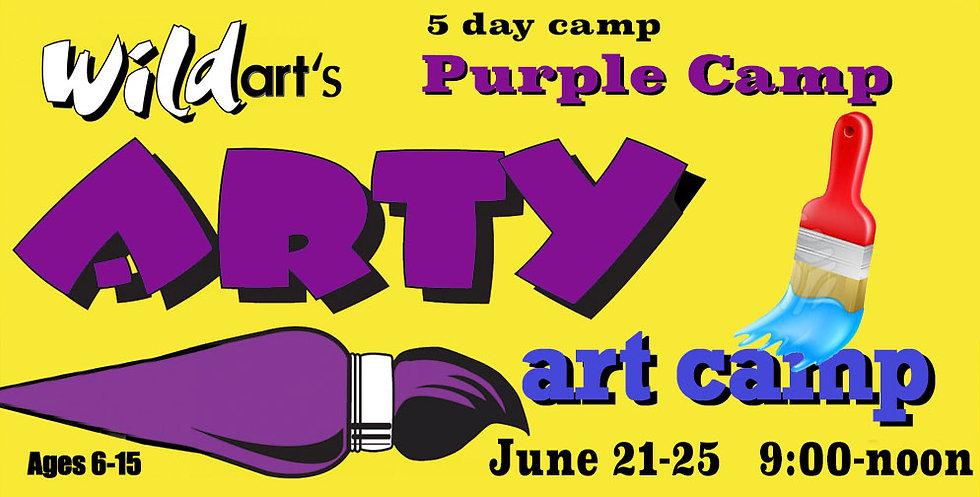 June 21-25 Camp PURPLE   9:00-noon