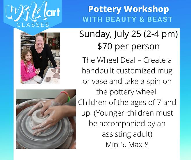 Pottery Workshop 7.25 (2-4pm)