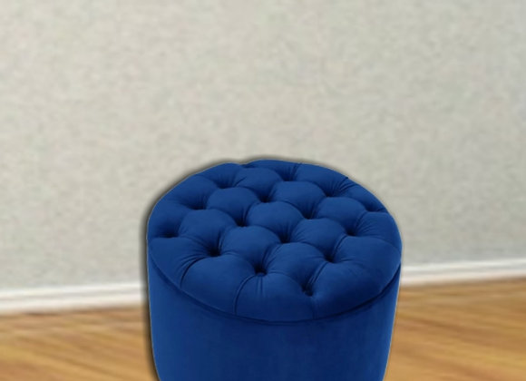 "Round stools | upholstered seats (20""×20"") in Plush Fabric"