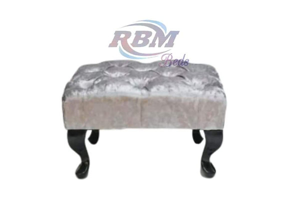 Small foot stool with steel queen legs