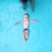 Infant swimming lesson