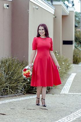Vestido vermelho Lady