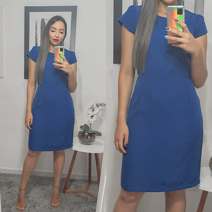 Vestido Tubinho Azul maravilha