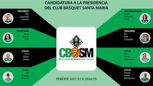 Nova junta directiva del Club Bàsquet Santa Maria