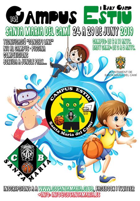 14è Campus d'Estiu del Club Bàsquet Santa Maria