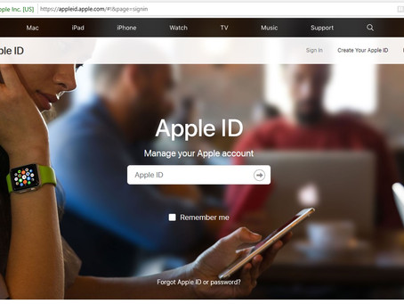 Changing your iCloud Password