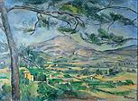 Mont Sainte Victoire wth Large Pine by Paul Cezanne