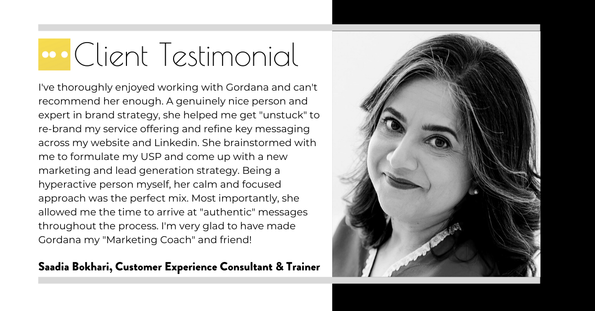 Saadia Bokhari Customer Excellence Coach