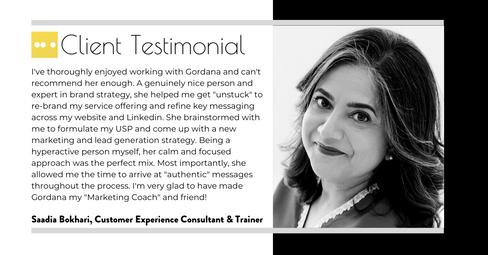 Saadia Bokhari Customer Excellence Coach