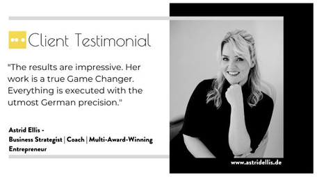 Astrid Ellis, Award Winning Business Builder, Mentor