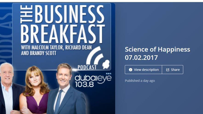 "dubaieye Podcast ""Science of Happiness"" with Prof. Justin Kennedy"