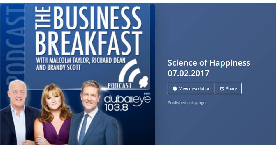 "Podcast - Prof. Kennedy at ""The Business Breakfast"" on Dubai Eye Radio"