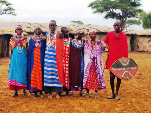 a village warrior and some of the masai