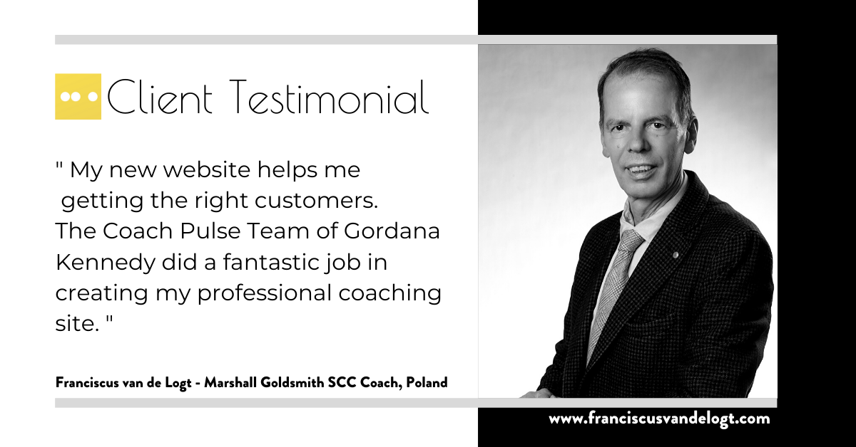 Fransiscus van de Logt - Marshall Goldsmith Coaching