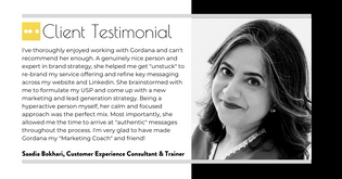 Saadia Bokhari, Customer Experience Coac
