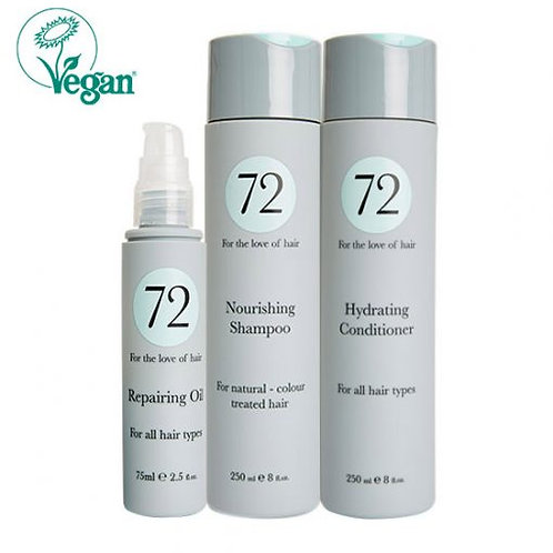 The 72 Hair Collection for Natural or Colour-treated hair.