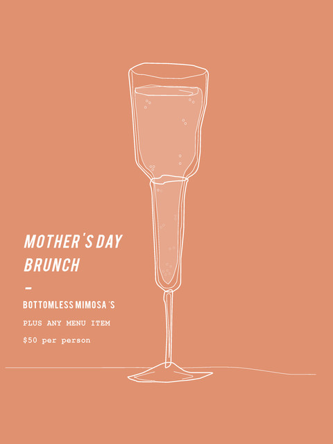 Mother's Day Illustration, Bentwood Cafe.