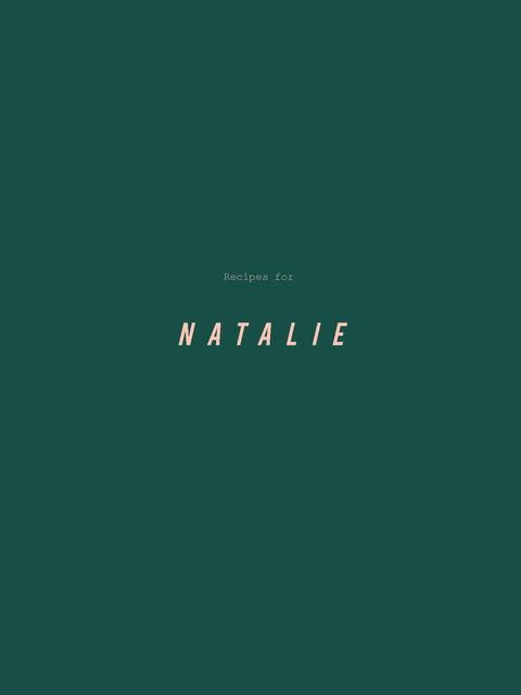 Natalie's Cookbook