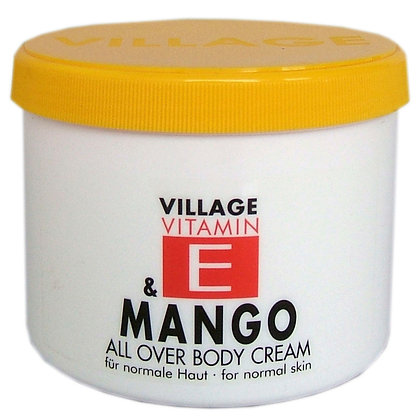 Vitamin E Body Cream 500ml Mango (EK/Stück: 3.27, UVP: 6.49)