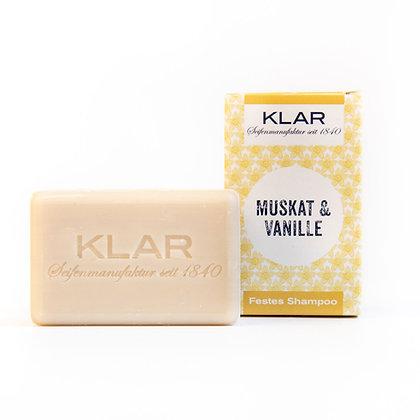 Klar's festes Shampoo Muskat & Vanille 100g (EK/Stück: 4.76, UVP: 9.99)