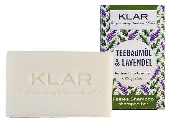 Klar's festes Shampoo Teebaumöl/Lavendel 100g (EK/Stück: 4.76, UVP: 9.99)