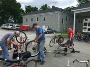 Bike repair at Thornwell.JPG
