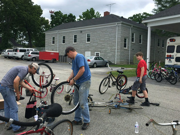 Bike repair at Thornwell.JPG
