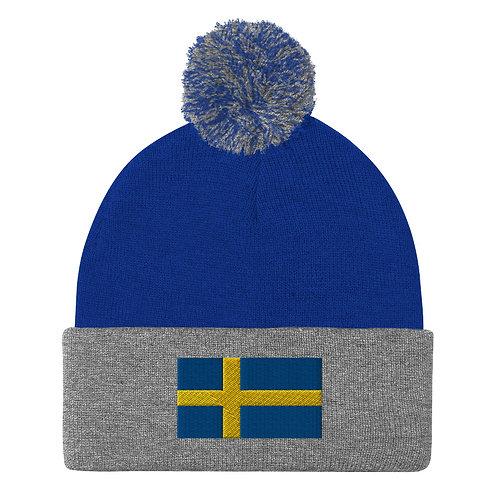 """Pom-Pom Beanie """"Sweden"""""""