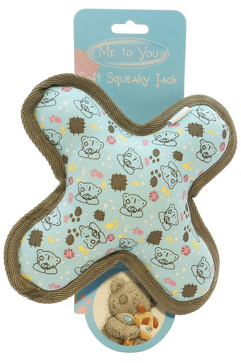 Soft Squeaky Jack - Great Puppy & Kitten Toy