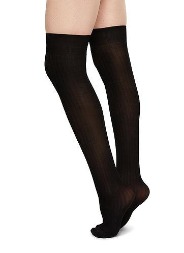 Ella Rip Over-Knee,black