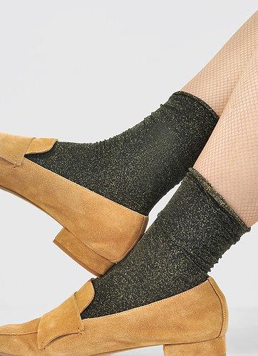 Lisa Lurex Socks, gold
