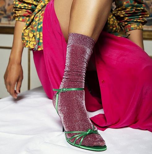 Ines Shimmery Socks