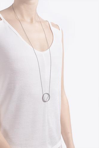 Halskette Kreis, lang