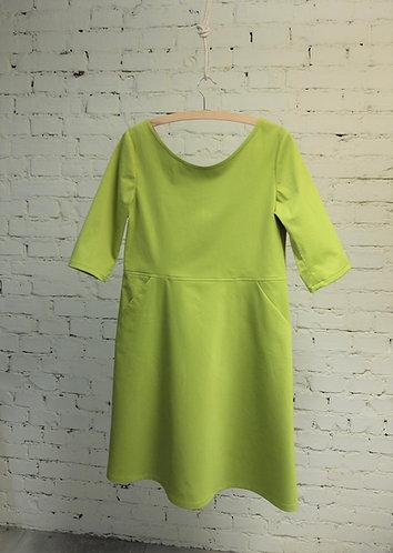 Kleid V limette