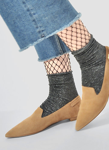 Lisa Lurex Socks, silber