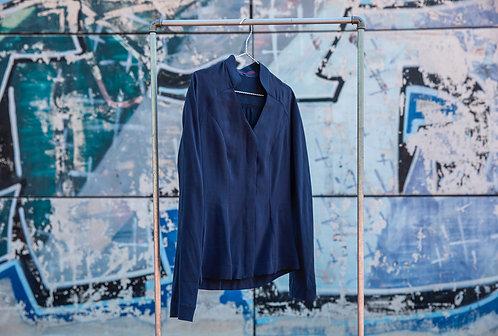 Bluse mit Stehkragen Hamburg, blau
