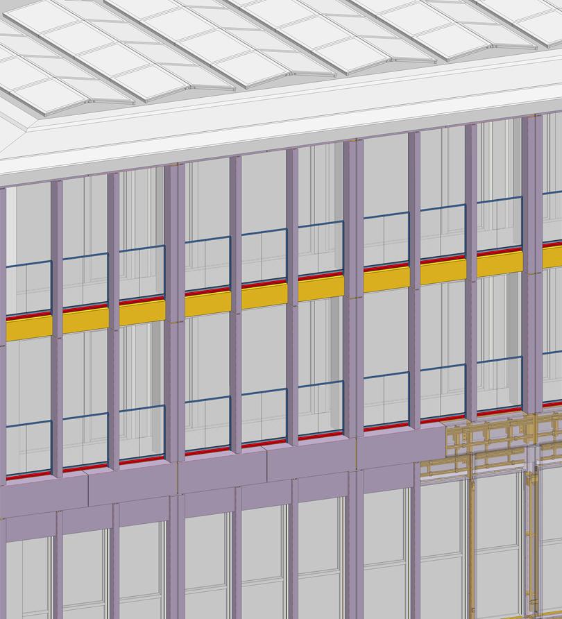 3D Ansicht Glasfaserbetonfassade
