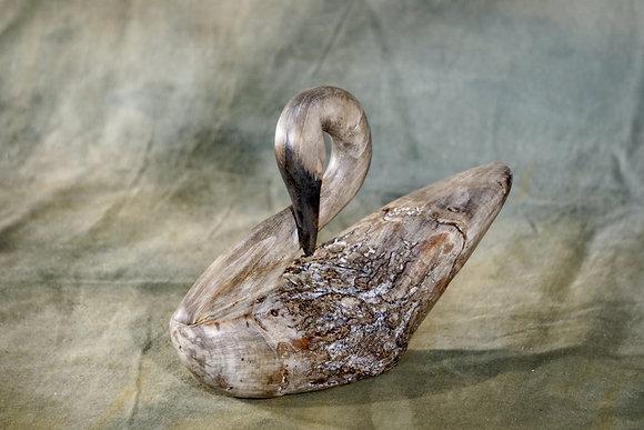 Small Preening Swan Decoy