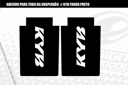 ADESIVO para tubo da suspensão KYB fundo preto