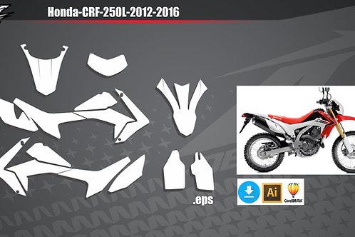 Honda-CRF-250L-2012-2016 - vetor