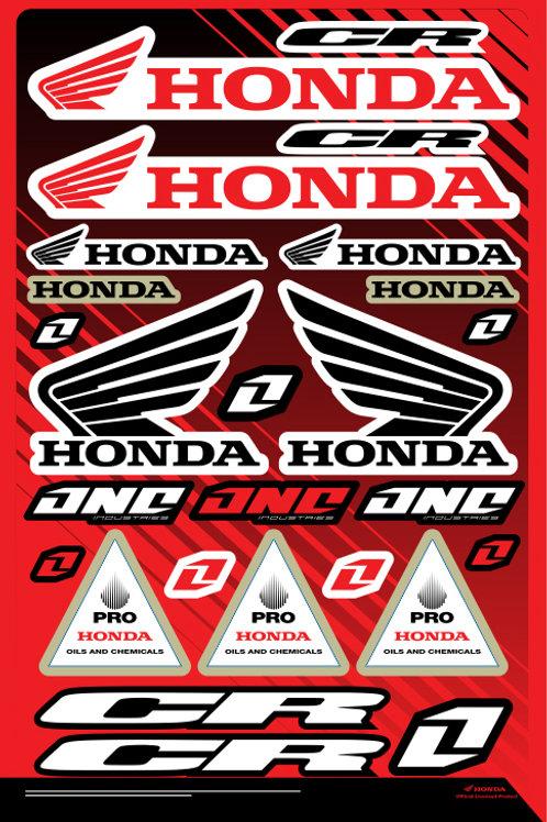 Cartela de adesivos Honda 02
