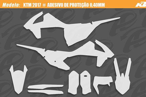 KTM 2017-2018  #  adesivo de proteção 0,60mm