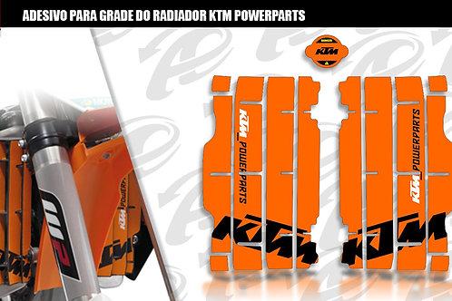 Adesivo para grade do radiador KTM