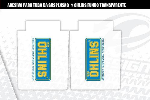 ADESIVO para tubo da suspensão Ohlins fundo transparente